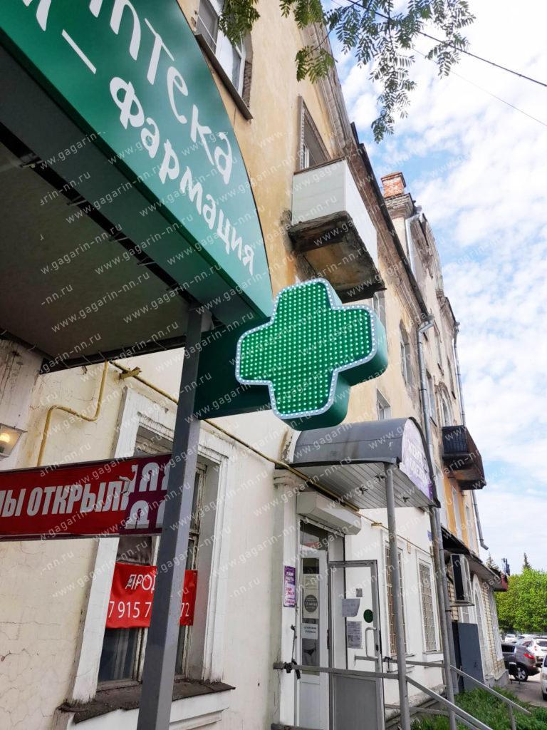 Изготовление и установка светодиодных крестов для аптек